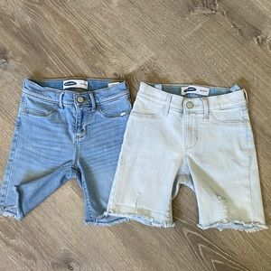 Old navy bundle distressed shorts girls size M